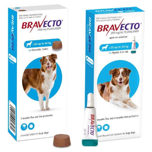 BRAVECTO for Dogs Flea and Tick Treatment